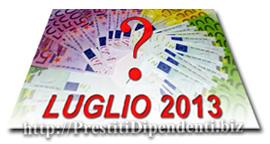 Confronto prestiti personali di Luglio 2013: i migliori finanziamenti online