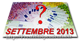 Confronto offerte prestiti personali di Settembre 2013: i migliori finanziamenti online