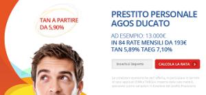 Offerta prestito personale Agos Ducato Luglio 2014 - Duttilio prestito flessbile