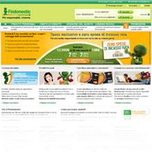 Screenshot del sito ufficiale della finanziaria Bieffe5 di Findomestic Banca