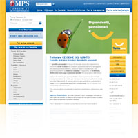 Screenshot del sito ufficiale della finanziaria Consum.it di del Gruppo MPS