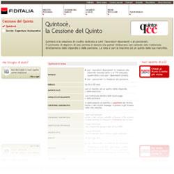 Screenshot del sito ufficiale della finanziaria Fiditalia
