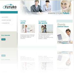 Screenshot del sito ufficiale della finanziaria Futuro