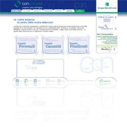 Screenshot del sito ufficiale della finanziaria ConEtruria