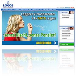 Screenshot del sito ufficiale di Logos Finanziaria SpA, società di erogazione diretta prestiti controllata Agos Ducato