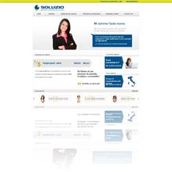 Screenshot del sito ufficiale di Soluzio Quinto Finanziaria SpA, società specializzata in cessione del quinto controllata Agos Ducato