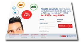 Promozione di fine 2011 sui Prestiti Personali Agos Ducato
