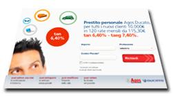 Agos Ducato: nuova promozione per prestiti personali online di Ottobre 2013